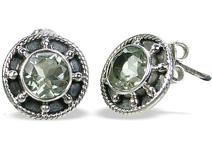 Design 14774: green green amethyst earrings