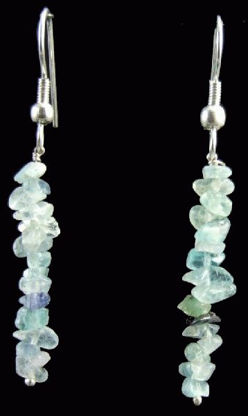 Design 1489: blue fluorite chipped earrings