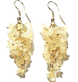Design 14901: yellow citrine chandelier earrings