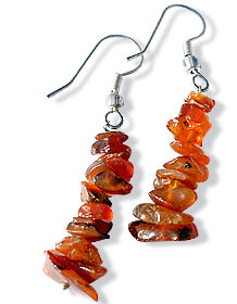 Design 1496: orange carnelian chipped earrings
