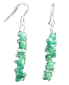 Design 1536: green aventurine chipped earrings