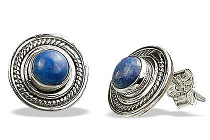 Design 15424: blue lapis lazuli post earrings