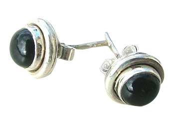 Design 1556: black onyx post, stud, studs earrings