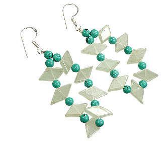 Design 15580: green aquamarine earrings
