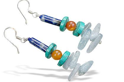 Design 15588: multi-color multi-stone earrings