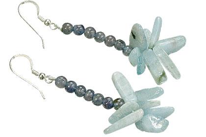 Design 15590: blue iolite earrings