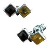 Design 15790: orange,yellow amber studs earrings