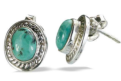 Design 1588: blue turquoise post earrings
