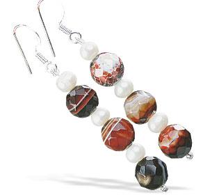 Design 16131: multi-color multi-stone earrings