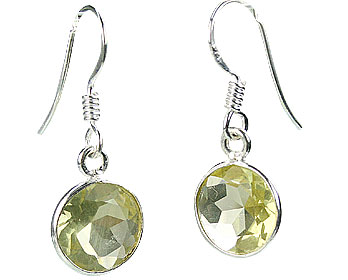 Design 16153: yellow lemon quartz earrings