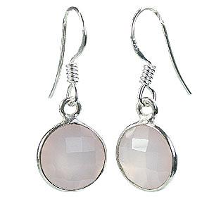 Design 16155: pink rose quartz earrings
