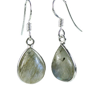 Design 16158: green,gray labradorite earrings