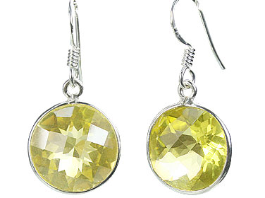 Design 16171: yellow lemon quartz contemporary earrings