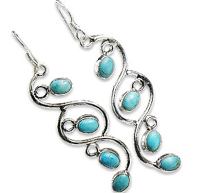 Design 1620: blue,green turquoise american-southwest earrings