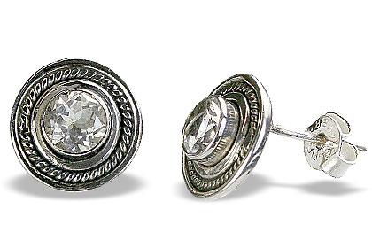 Design 16598: clear crystal earrings