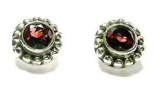 Design 1668: red garnet post, stud, studs earrings
