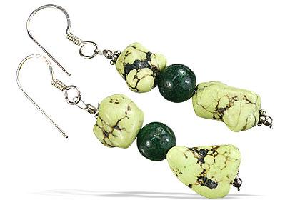 Design 16737: green chrysoprase earrings