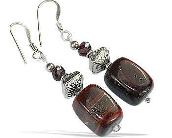 Design 16751: brown tiger eye earrings