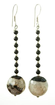 Design 17631: multi-color multi-stone earrings
