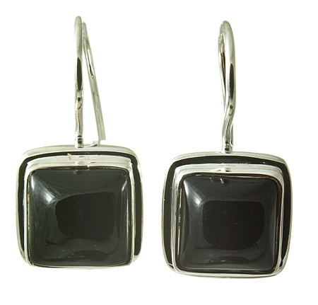 Design 17644: black onyx earrings