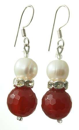 Design 17716: orange carnelian earrings