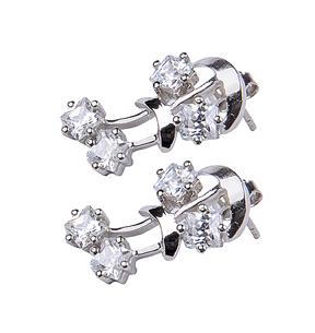 Design 18062: clear crystal earrings