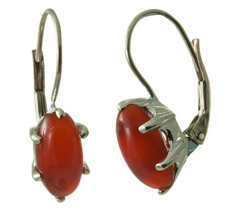 Design 18117: orange carnelian earrings
