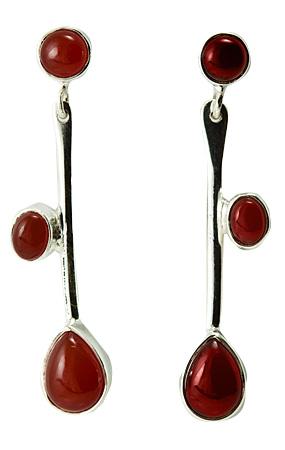 Design 18132: orange carnelian earrings
