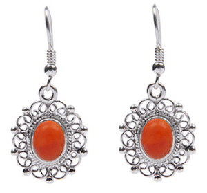 Design 18309: orange carnelian earrings