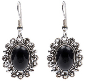 Design 18327: black onyx earrings