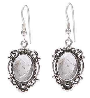 Design 18460: clear quartz earrings
