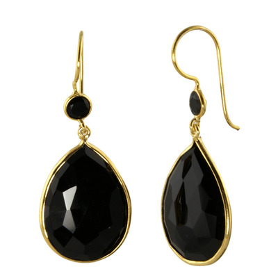 Design 18613: black onyx earrings