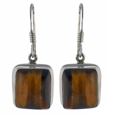 Design 18629: brown tiger eye earrings