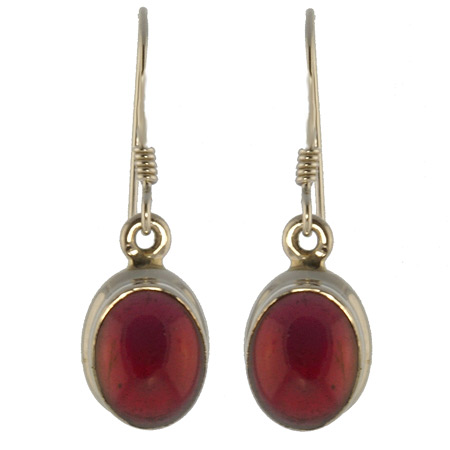 Design 18660: red garnet earrings