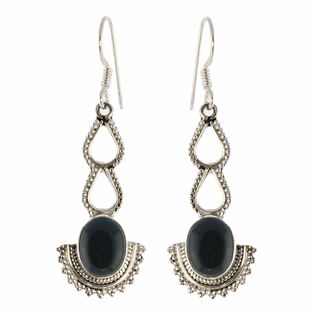 Design 18811: black onyx earrings