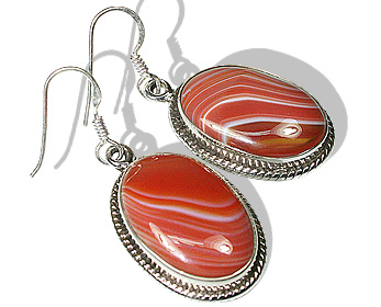 Design 20919: orange sardonyx earrings