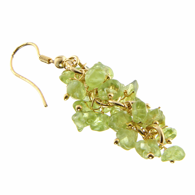 Design 20983: green peridot earrings