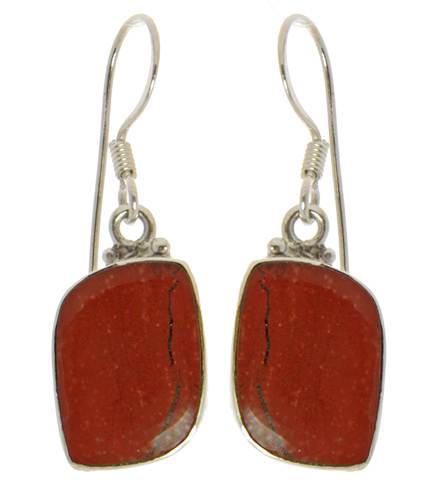 Design 21042: brown jasper earrings