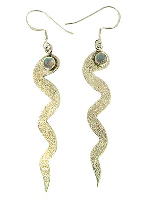Design 21057: green labradorite earrings