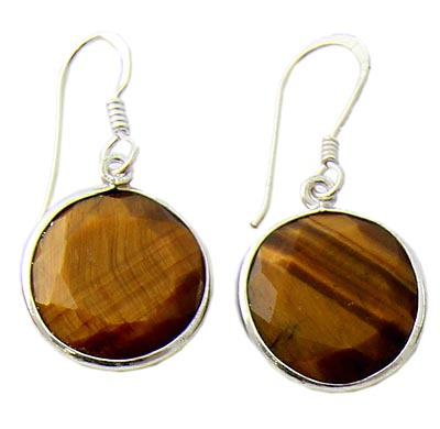Design 21063:  tiger eye earrings