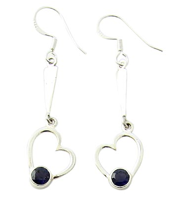 Design 21065: blue iolite earrings