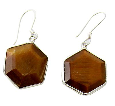 Design 21067:  tiger eye earrings