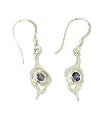 Design 21068: blue iolite earrings