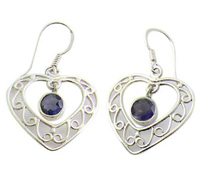 Design 21071: purple iolite earrings