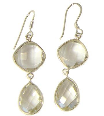 Design 21073: clear crystal earrings