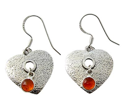 Design 21078: orange carnelian earrings