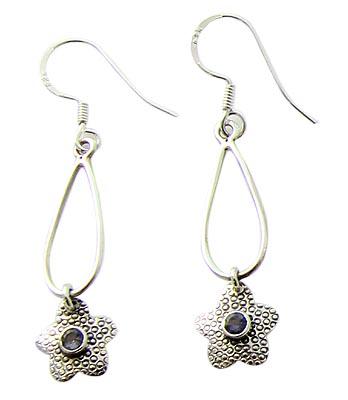 Design 21082: blue iolite earrings