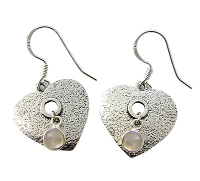 Design 21084: white moonstone earrings