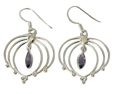Design 21085: purple iolite earrings