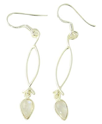Design 21098: white moonstone earrings